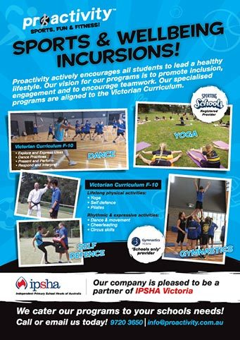 Proactivity School Incursions 2018 Flyer