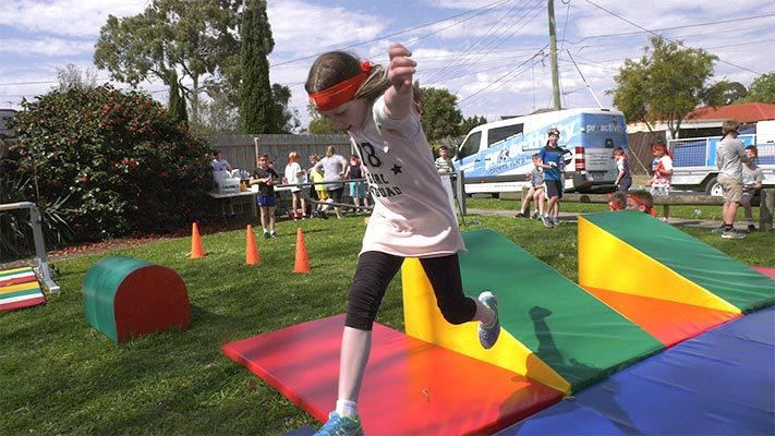 Kids Ninja Warrior Party River Proactivity