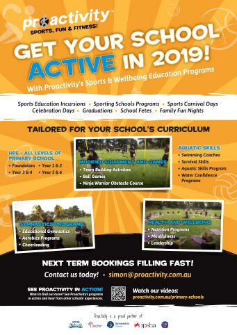 Proactivity Primary School Incursions 2019 Flyer