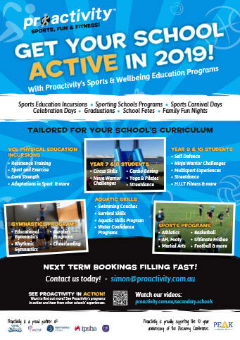 Proactivity School Incursions 2019 Flyer